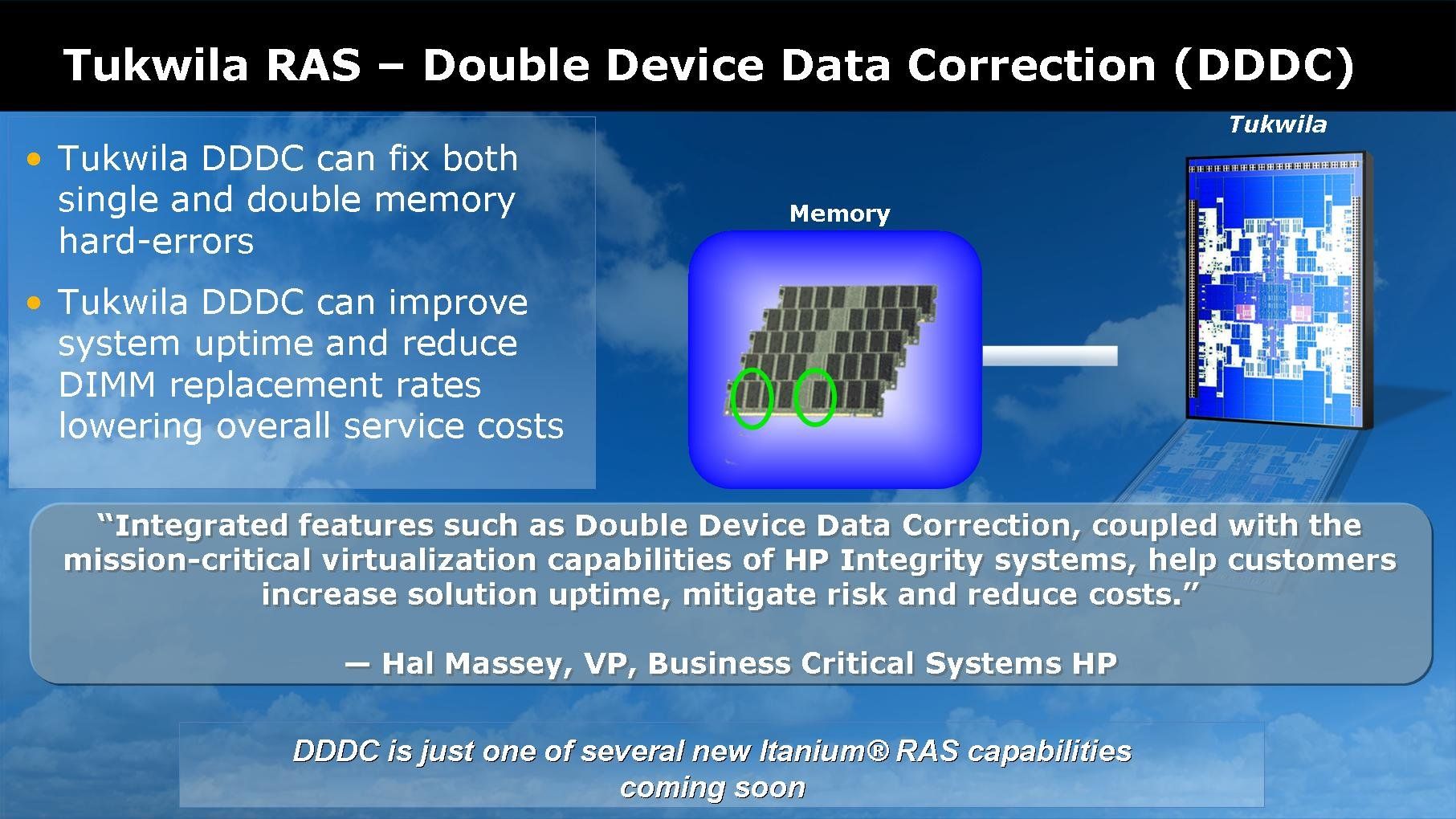 Neuerung in Tukwila: Double Device Data Correction (DDDC)