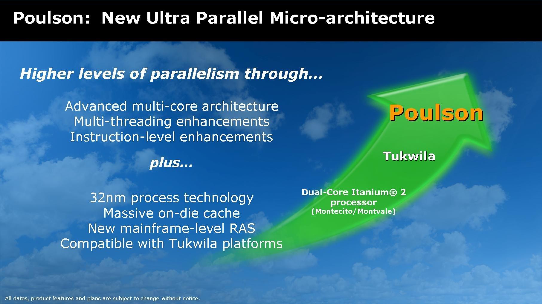 Intel Poulson – kommt frühstens Ende 2009