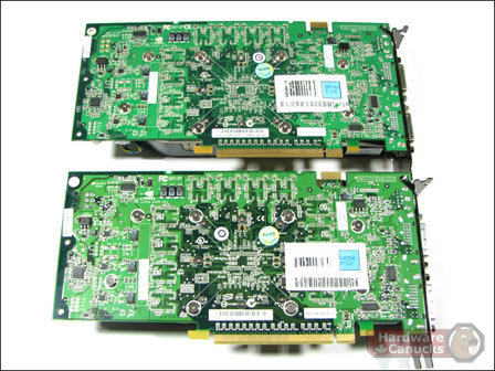8800 GTS 320 MB (o.) vs. 8800 GTS SSC (u.)