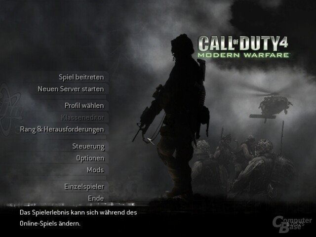 CoD 4 Multiplayer Lounge