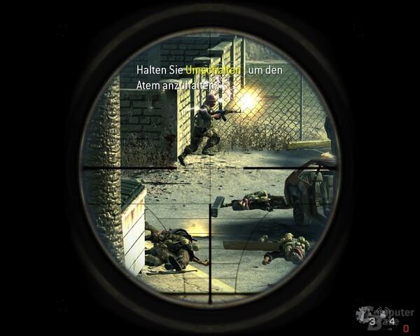 Im Visier: Das Scharfschützengewehr in Aktion