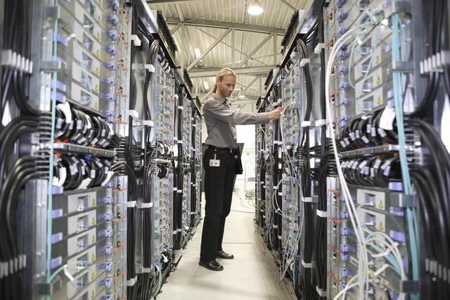 Supercomputer JUGENE im Forschungszentrum Jülich