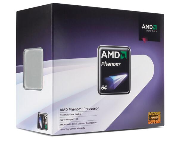 Retail-Verpackung des AMD Phenom