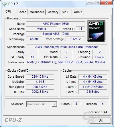 Overclocking eines Phenom 9600 BE