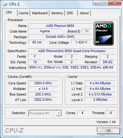 Overclocking eines Phenom 9600 BE