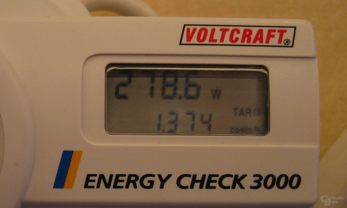 "Energiebedarf ""Altes System"" 278,6 Watt"