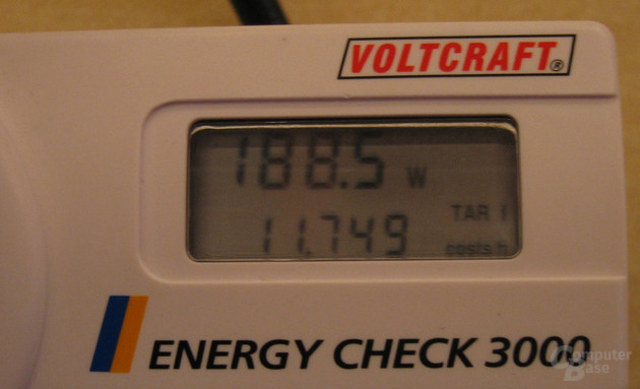 "Energiebedarf ""Spider-Plattform"" 188,5 Watt"