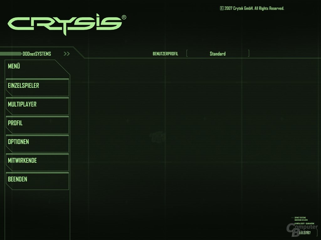 Crysis Startscreen