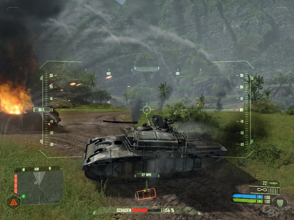 Crysis – US-Panzer in Aktion