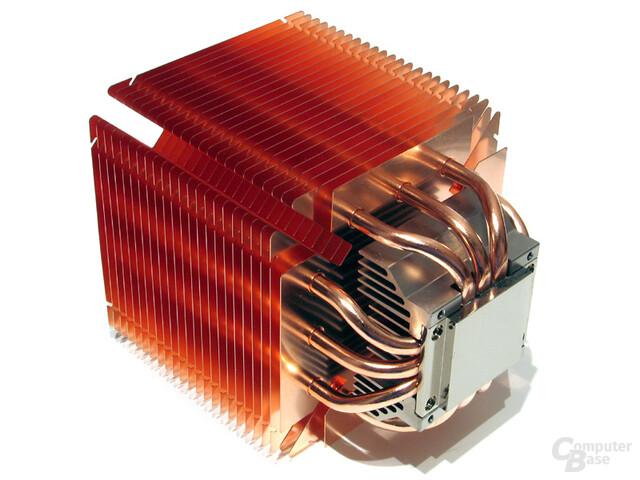 Mittlerweile Scythe-Standard: Vernickelter Kühlerboden