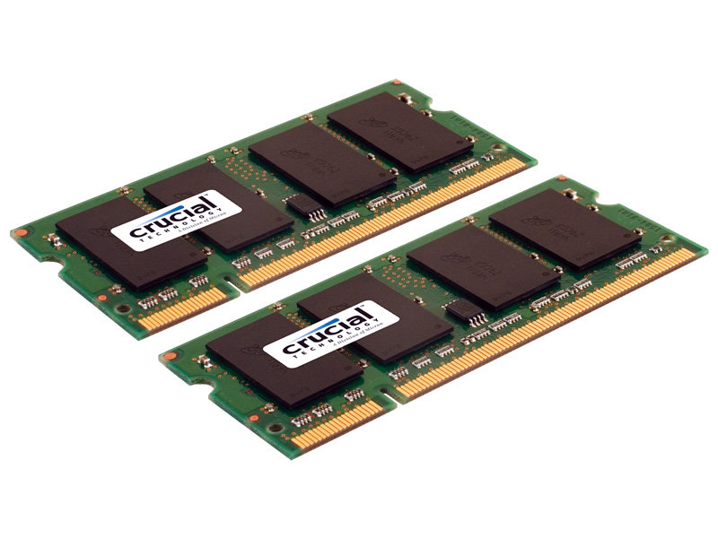 Crucial DDR2-667 2-GB-Kit SO-DIMM