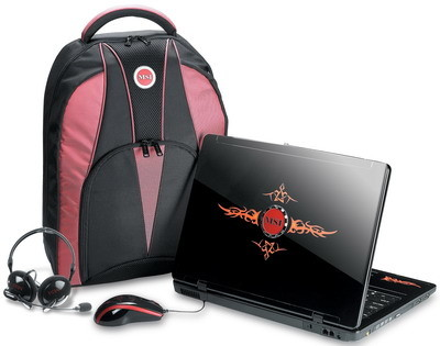 MSI GX600 Gaming-Notebook Lieferumfang
