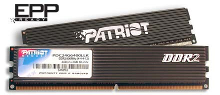 Patriot Memory PDC24G6400LLK; 4 GB DDR2-800