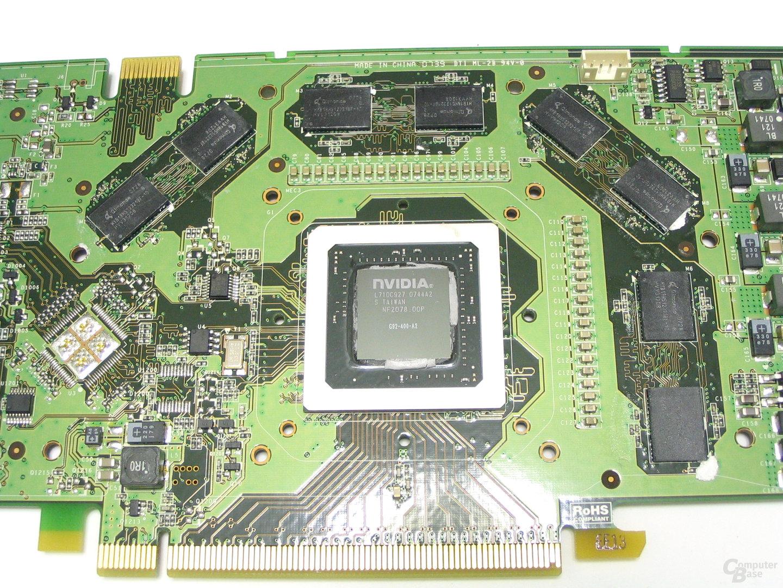 GeForce 8800 GTS 512 GPU und Speicher