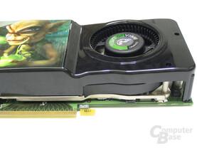 GeForce 8800 GTS 512 Seitenansicht