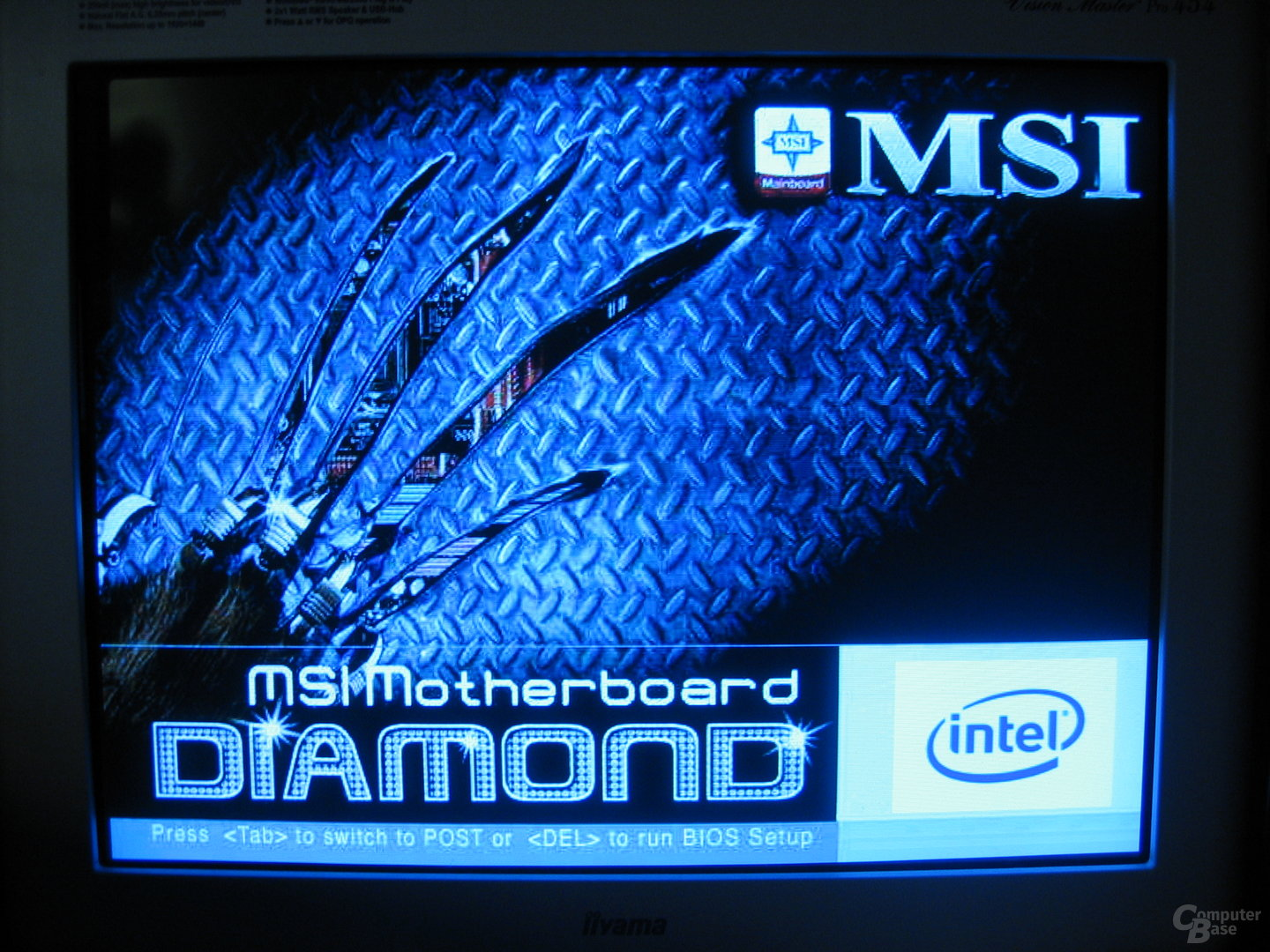 MSI HydroGen X38, Boot-Screen