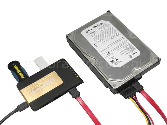 5-Port USB-Hub mit SATA- und eSATA-Anschluss