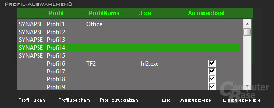 Treiber-Software der Razer Tarantula
