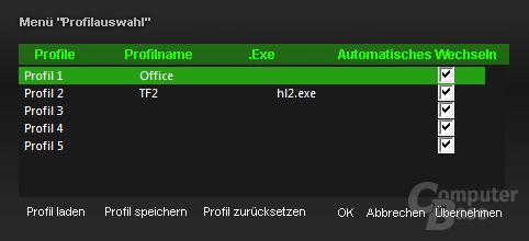 Treiber-Software der Razer Reclusa