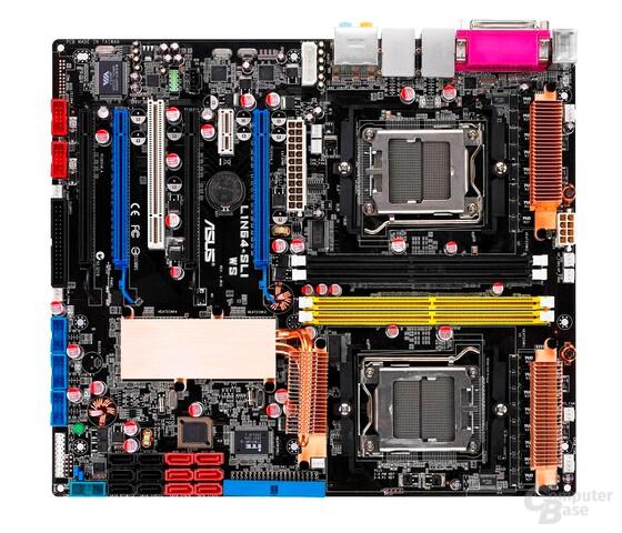 Das Asus L1N64-SLI WS bleibt auch in Zukunftdas einzige Quad-FX-Mainboard. AMD stellt Quad-FX ein!