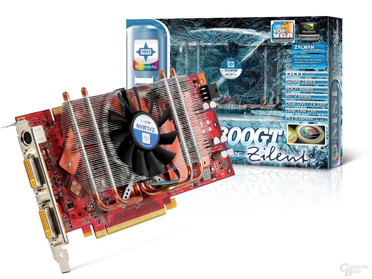 MSI NX8800GT-T2D512E-Zilent