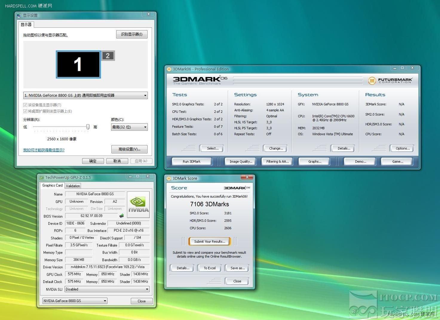 GeForce 8800 GS – 3DMark06 (4xAA)