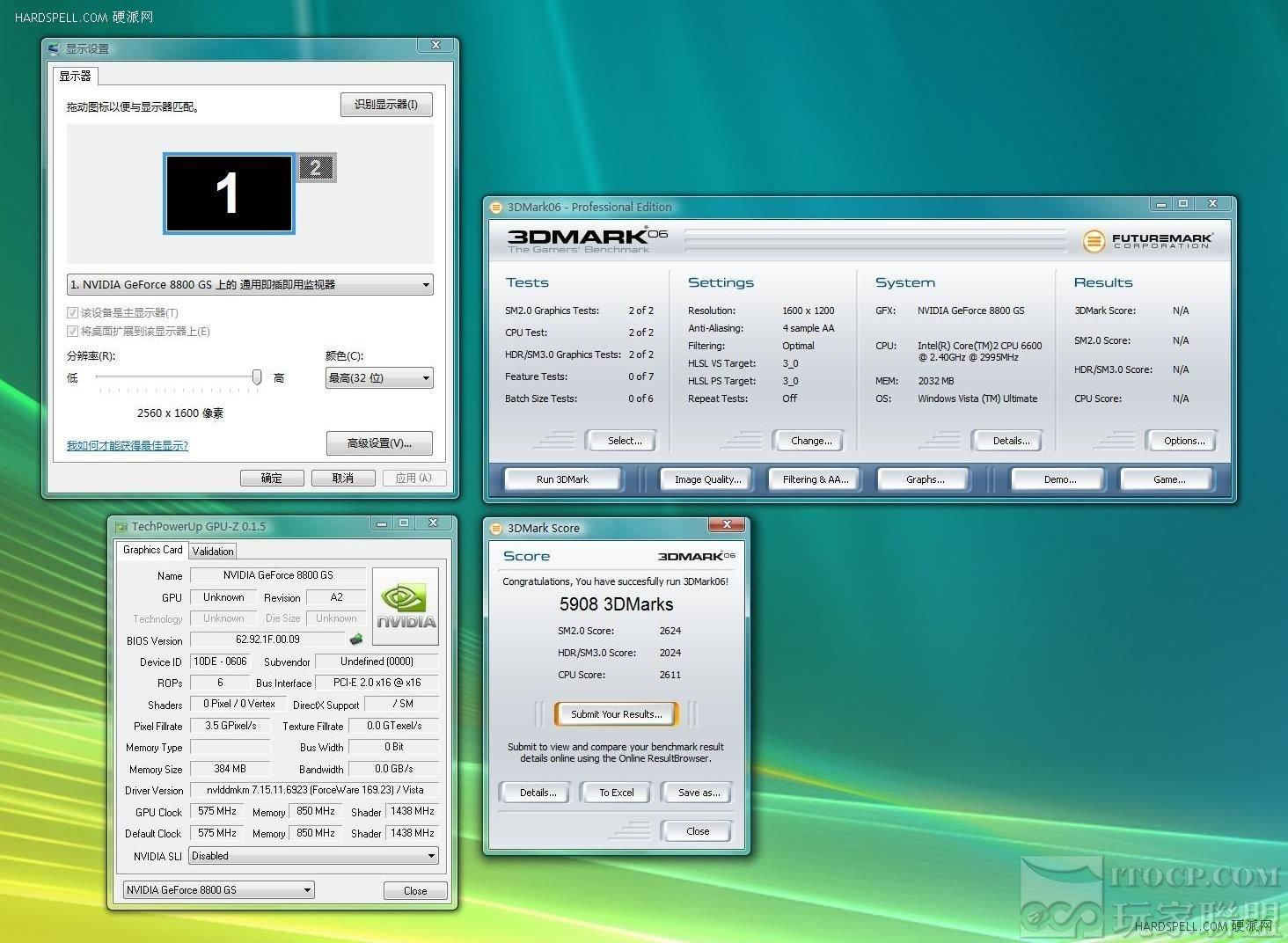 GeForce 8800 GS – 3DMark06 (1600x1200 4xAA)