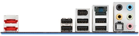 Intels D5400XS I/O-Panel