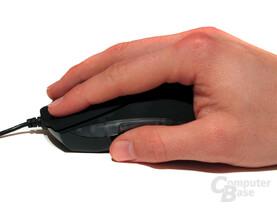Flache Handauflage und Fingerführung