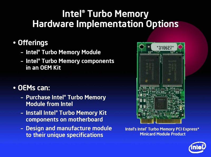 Intel Turbo Memory (Codename Robson)