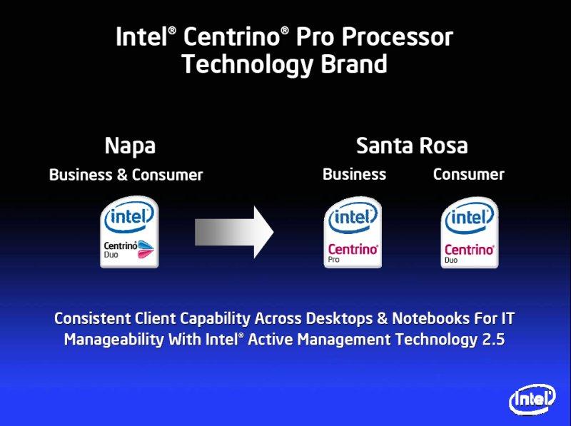 Intel Centrino Duo und Pro Logos für Santa Rosa