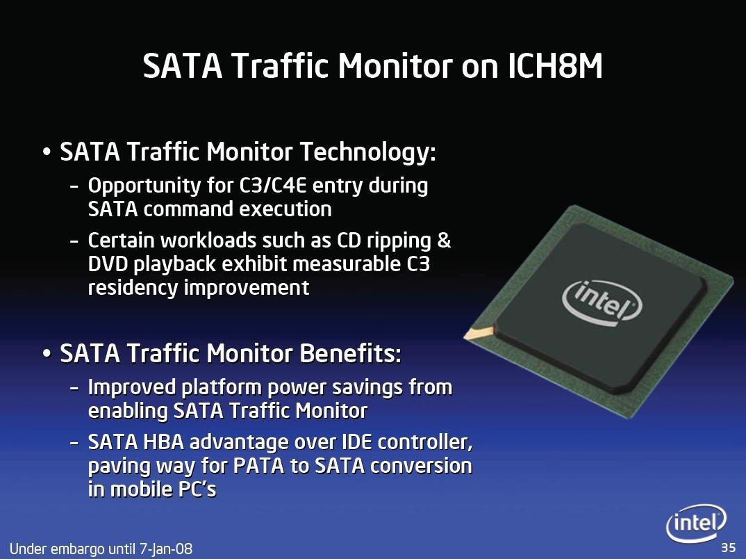 SATA Traffic Monitor des ICH8M