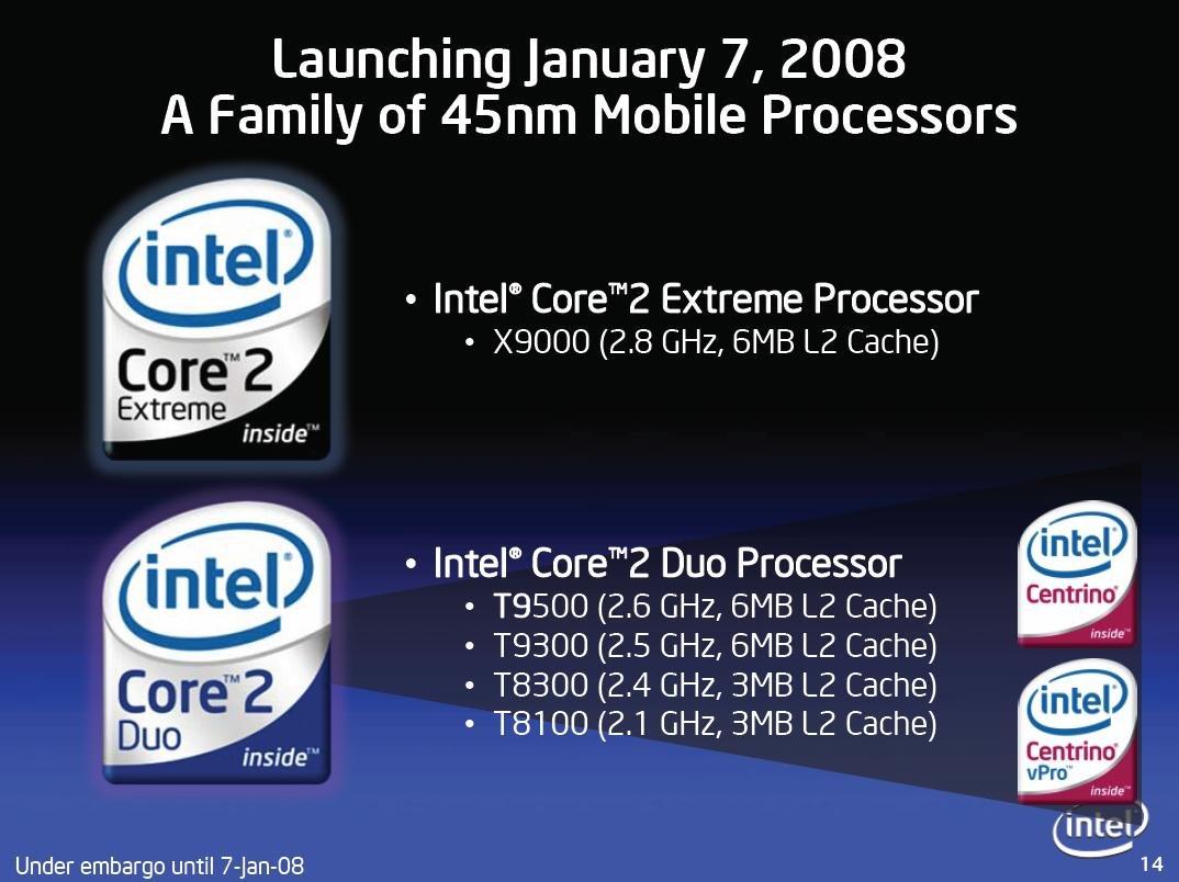Intel Penryn: Die Prozessoren von Santa rosa Refresh