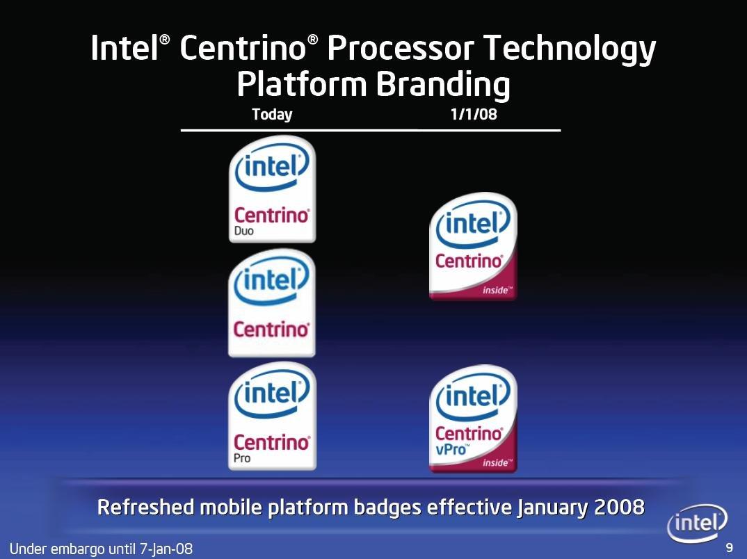 Intel wechselt mit Santa Rosa Refresh die Logos erneut