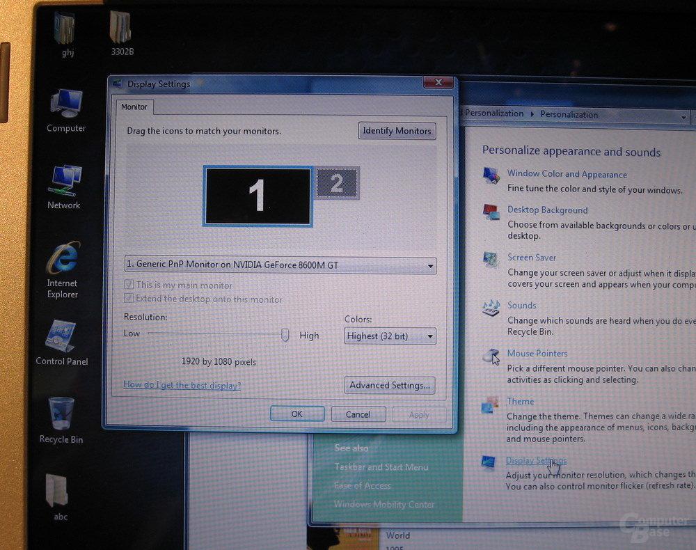 Dell 16-Zoll-Display  mit 1.920 x 1.80 Pixeln