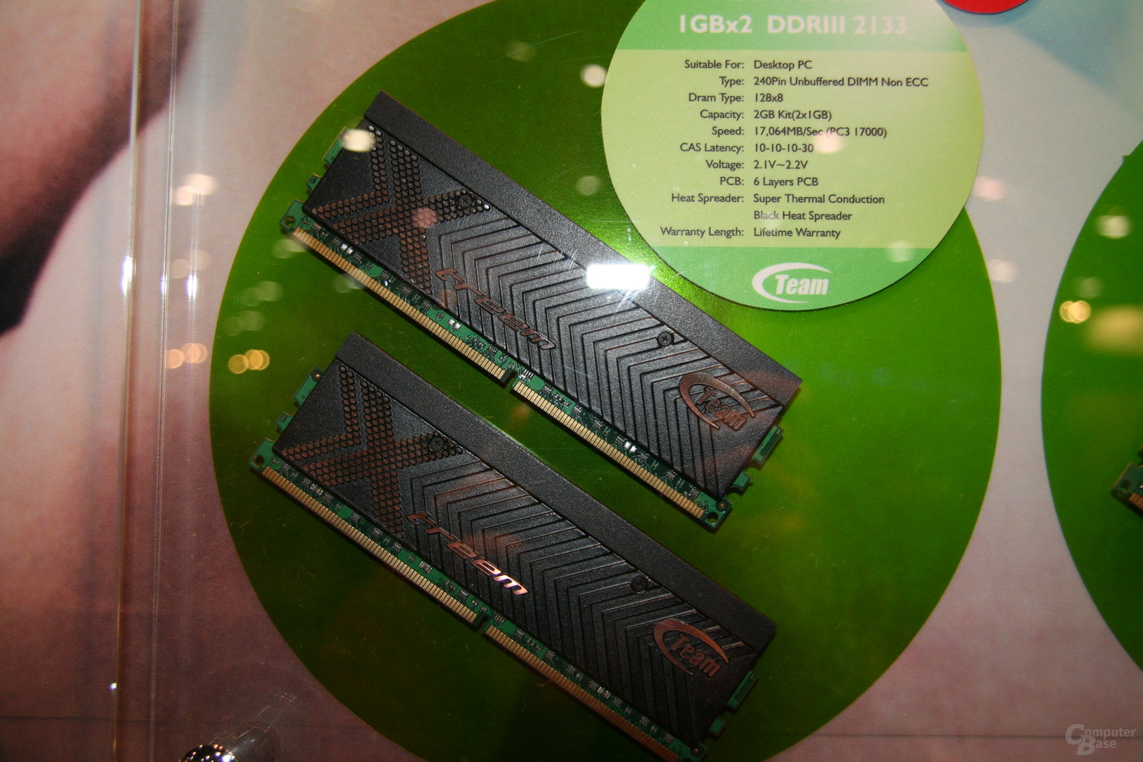 Team Group DDR3 2133MHz auf der CES 2008