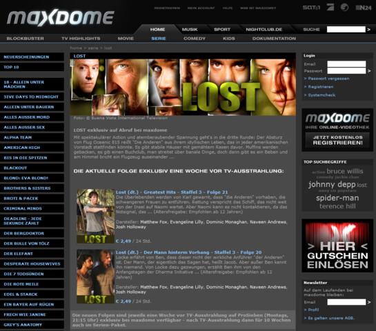 Maxdome - Was zu neu ist kostet Geld