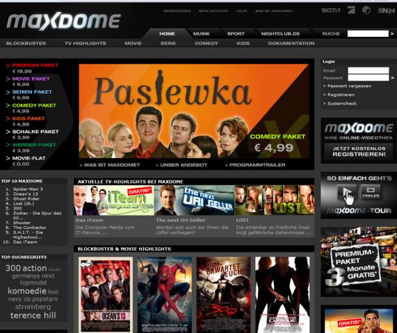 Maxdome Startseite