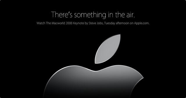 Apple MacWorld-Banner auf Apple.com.