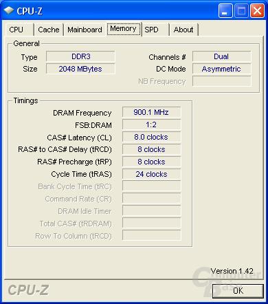 OCZ CPU-Z RAM