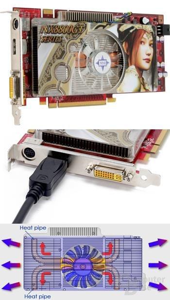 MSI GeForce 8800 GT mit 1.024 MB und DisplayPort