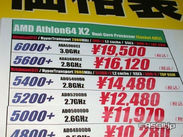 Neue Athlon 64 X2 – Preise