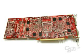 Radeon HD 3870 X2 Rückseite ohne Kühler