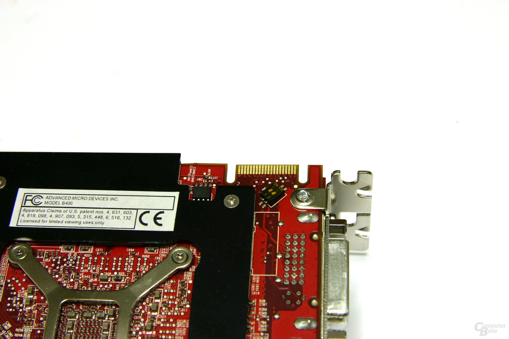 Radeon HD 3870 X2 CF-Anschluss