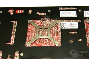 Radeon HD 3870 X2 GPU-Rückseite