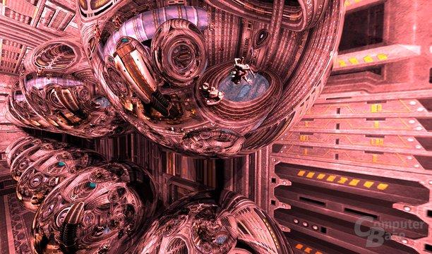 Spiegelungen in Quake 4 – 1. Ebene
