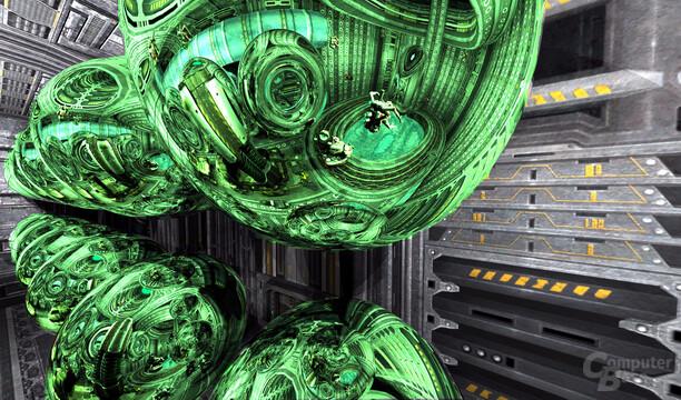 Spiegelungen in Quake 4 – 2. Ebene