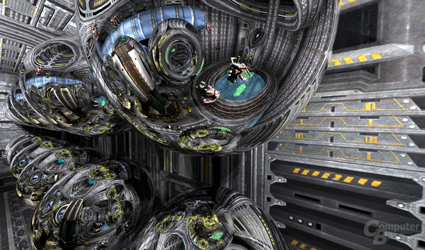 Spiegelungen in Quake 4 – 4. Ebene