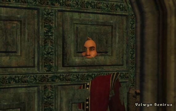 Velwyn steckt in der Türe fest in Oblivion (2006)