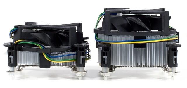 Intel Boxed-Kühler: E8500 vs. E2180